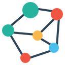 Connection Nodes Communication Icon