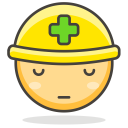 Construction Worker Doctor Icon