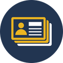 Contact Card Contacts Employee Card Icon