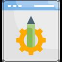 Content Management Web Design Concept Icon