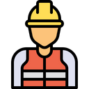 Contractor Labor Worker Icon