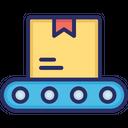 Conveyor Belt Logistics Package Icon