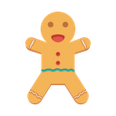 Cookies Ginger Man Biscuit Icon