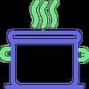 Cooking Food Food Food On Stove Icon