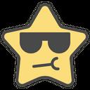 Cool Emoticon Star Icon