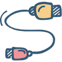 Cord Electricity Extension Icon
