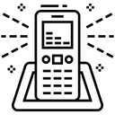 Cordless Phone Wireless Phone Landline Telephone Icon