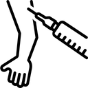 Vaccine Syringe Testosterone Icon