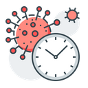 Corona Virus Clock Watch Icon