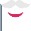 Costume Hipster Moustache Icon