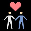 Couple Swain Lovers Icon