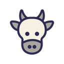 Cow Heat Animal Icon