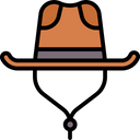 Artboard Copy Cowboy Hat Cap Icon