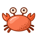 Crab Food Meal Icon