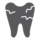 Cracked Tooth Mouth Icon