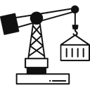 Crane Lifter Crane Pallet Lifter Crane Roller Lifters Icon