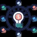Innovative Network Creative Network Communication Idea Icon