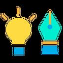Pen Bulb Light Bulb Icon