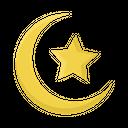 Ramadan Crescent Moon Star Icon