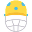 Cricket Helmet Helmet Cricket Equipment Icon