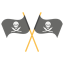 Crossed Pirate Flag Icon