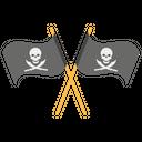 Crossed Pirate Flag Pirates Black Flag Icon