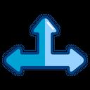 Crossroad Direction Arrow Icon