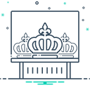 Crown Exhibit Diadem Icon