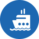 Cruise Ship Boat Icon