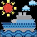 Cruise Cruise Ship Vacation Icon