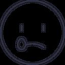 Crying Emoji Outline Icon