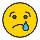 Artboard Crying Face Sad Face Icon