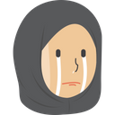 Crying Hijab Girl Icon