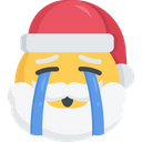 Santa Christmas Emoji Icon