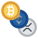 Cryptocurrency Bitcoin Litecoin Icon
