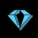 Crystal Diamond Stone Icon