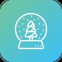 Crystalball Snowfall Gift Icon