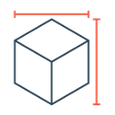 Cube Dimension Height Icon