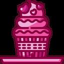 Cupcake Dessert Bakery Icon