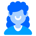 Curly Hair Woman Girl Icon