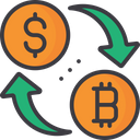 Currency Exchange Exchange Cryptocurrency Bitcoin Icon