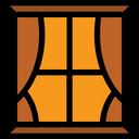 Curtains Window Decoration Icon