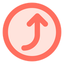 Curved right up arrow Icon