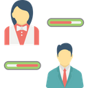 Customer Responsive Progress Bar Employee Improvement Employees Evaluation Icon