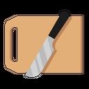 Cutting Board Knife Icon