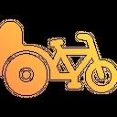 Cycle Rickshaw Icon