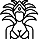 Dancer Dance Costume Icon