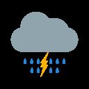 Dark Ray Cloud Icon