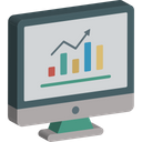 Data Analysis Seo Performance Web Analytics Icon