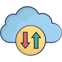 Cloud Computing Cloud Data Sync Data Share Icon